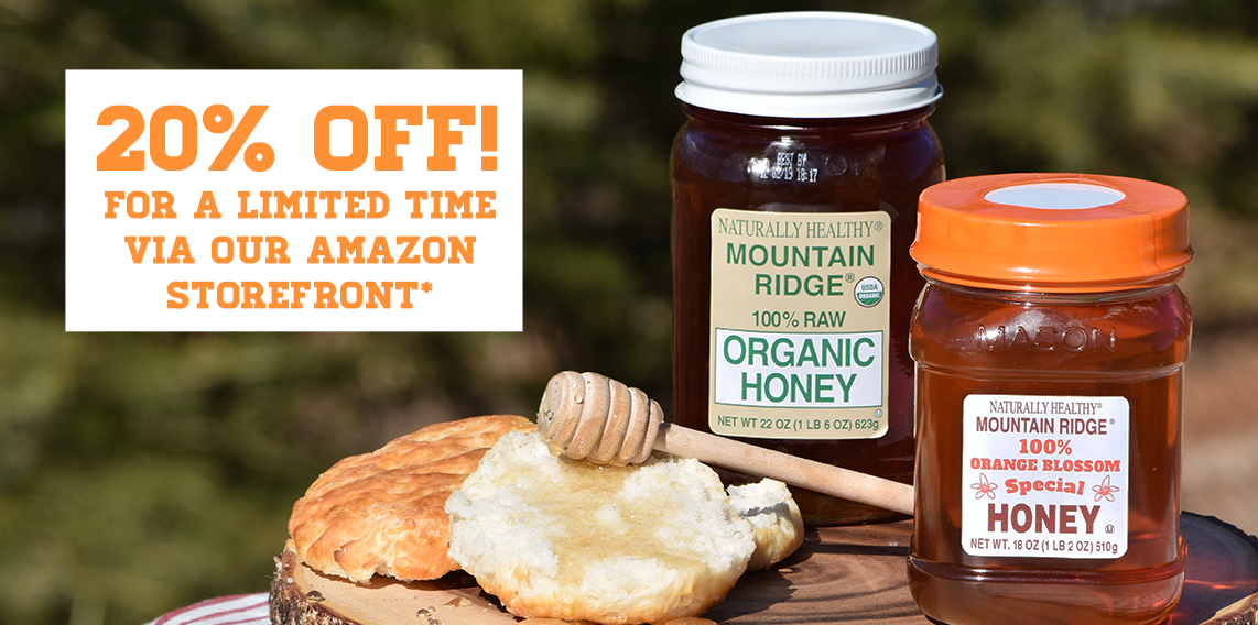 Limited time only, 20% OFF our Organic and Orange Blossom Honeys!